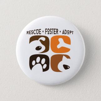 Rescue Foster Adopt Pet Button