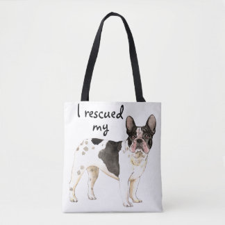 Rescue Frenchie Tote Bag