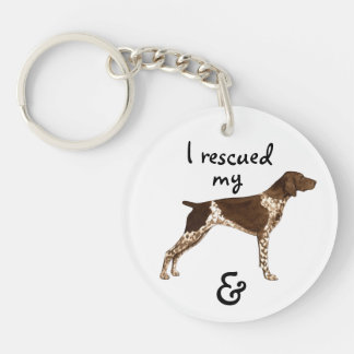 Rescue German Shorthaired Pointer Double-Sided Round Acrylic Keychain