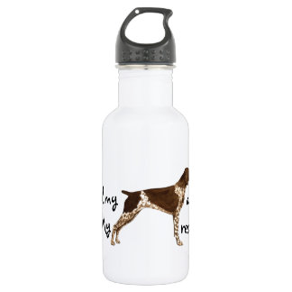 Rescue German Shorthaired Pointer Water Bottle