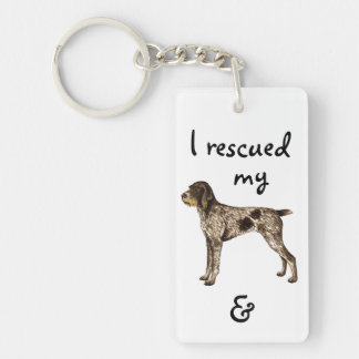 Rescue German Wirehaired Pointer Double-Sided Rectangular Acrylic Keychain