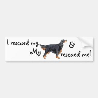 Rescue Gordon Setter Bumper Sticker