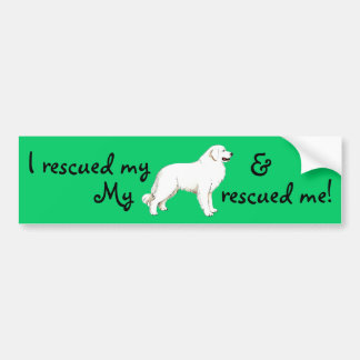 Rescue Great Pyrenees Bumper Sticker