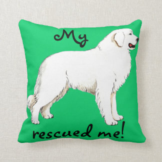 Rescue Great Pyrenees Throw Pillow