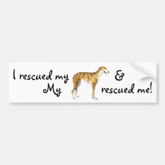Rescue Greyhound Bumper Sticker