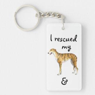 Rescue Greyhound Keychain