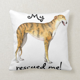 Rescue Greyhound Throw Pillow