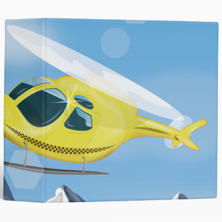 Rescue Helicopter 3 Ring Binder