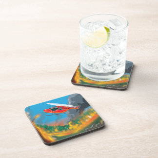 Rescue Helicopter Beverage Coaster