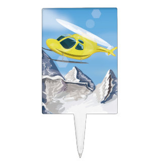 Rescue Helicopter Cake Topper