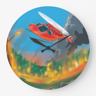 Rescue Helicopter Large Clock