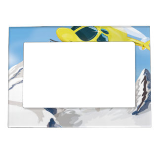 Rescue Helicopter Photo Frame Magnet