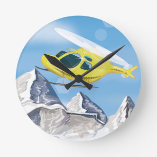 Rescue Helicopter Round Clock