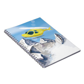 Rescue Helicopter Spiral Note Book