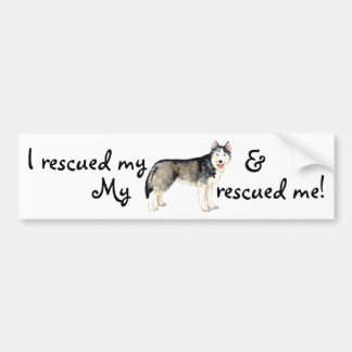 Rescue Husky Bumper Sticker
