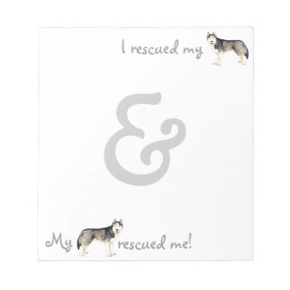 Rescue Husky Note Pad
