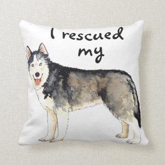 Rescue Husky Throw Pillow