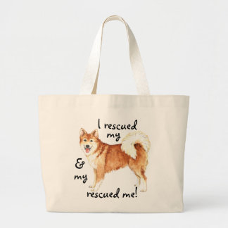 Rescue Icelandic Sheepdog Large Tote Bag