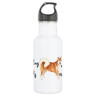 Rescue Icelandic Sheepdog Stainless Steel Water Bottle