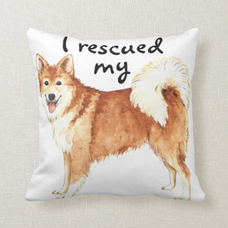 Rescue Icelandic Sheepdog Throw Pillow