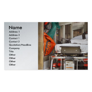 Rescue - Inside the Ambulance Business Card Templates
