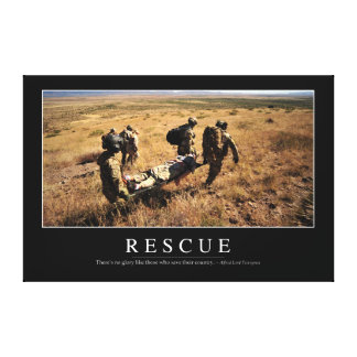 Rescue: Inspirational Quote 1 Canvas Print