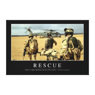 Rescue: Inspirational Quote 2 Canvas Print