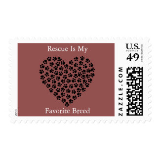 Rescue Is My Favorite Breed Stamp .47