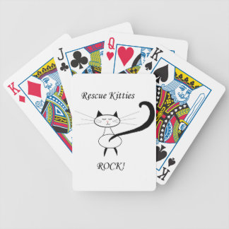 Rescue Kitties Rock Bicycle Playing Cards