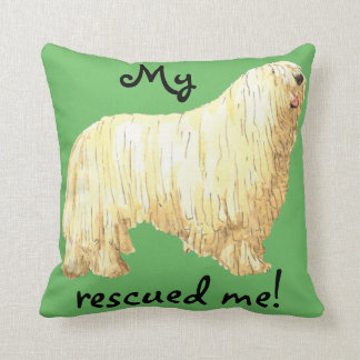 Rescue Komondor Throw Pillow