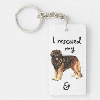 Rescue Leonberger Keychain