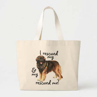 Rescue Leonberger Large Tote Bag
