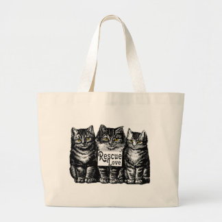 rescue love large tote bag