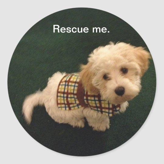 Rescue me. classic round sticker