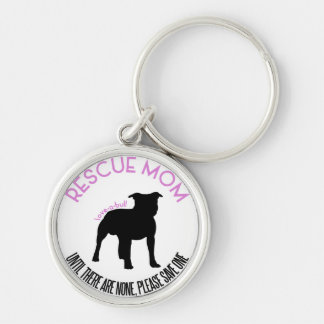 "Rescue Mom ""Love A Bull"" Pit Bull Rescue Keychain"