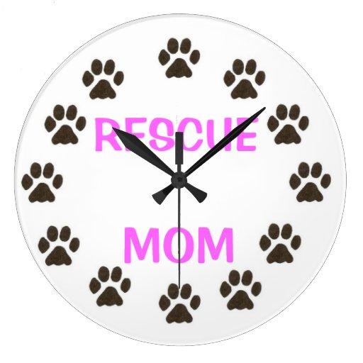 RESCUE MOM ROUND CLOCK