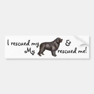 Rescue Newfoundland Bumper Sticker