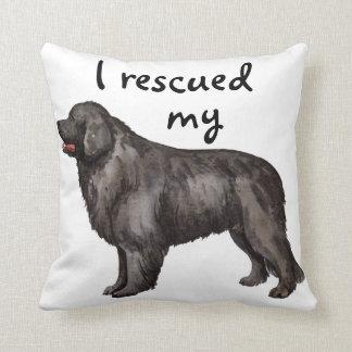 Rescue Newfoundland Throw Pillow