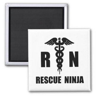 Rescue Ninja 2 Inch Square Magnet
