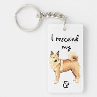 Rescue Norwegian Buhund Keychain