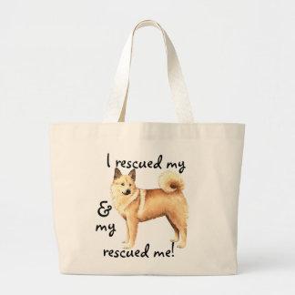 Rescue Norwegian Buhund Large Tote Bag