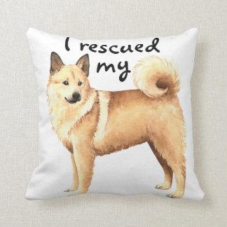 Rescue Norwegian Buhund Throw Pillow