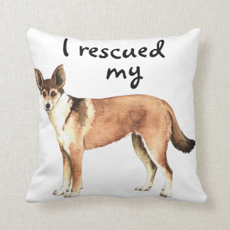 Rescue Norwegian Lundehund Throw Pillow