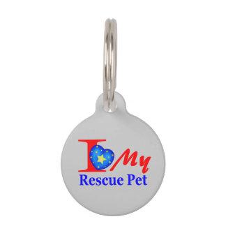 """""""Rescue Pet I'd Tag"""" Pet ID Tag"""