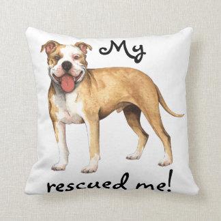 Rescue Pit Bull Terrier Pillow