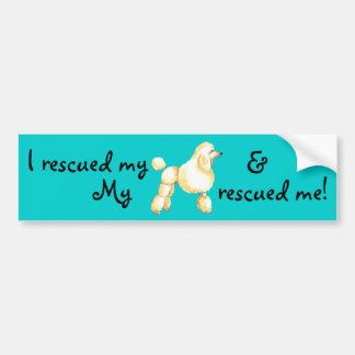 Rescue Poodle Car Bumper Sticker