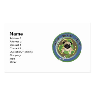 Rescue Recycle Rejoice Double-Sided Standard Business Cards (Pack Of 100)