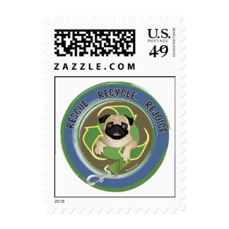 Rescue Recycle Rejoice Postage Stamp