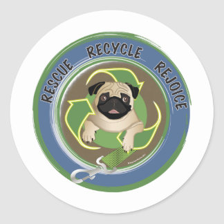 Rescue Recycle Rejoice Tees and Gifts Stickers