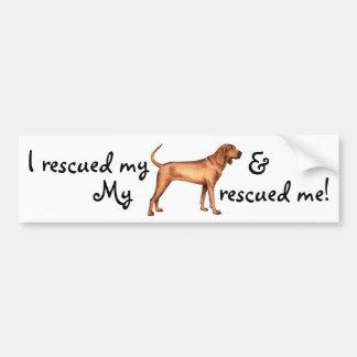 Rescue Redbone Coonhound Bumper Sticker